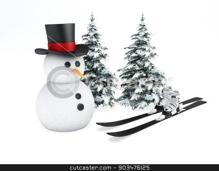 snowman 3d. winter concept on white background stock photo, image of cartoon snowman 3d illustration. holiday concept on white background by nicolas menijes