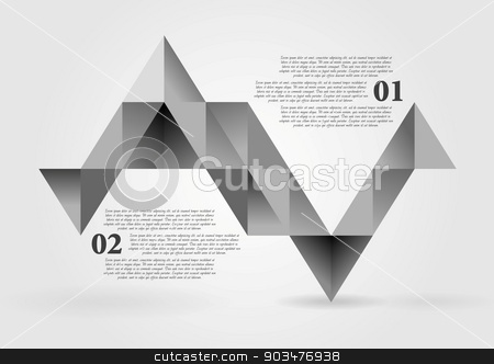 Abstract grey triangles infographics vector design stock vector clipart, Abstract grey triangles infographics design. Vector background by saicle
