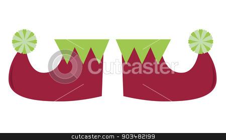 Cute stylized elvish legs isolated on white stock vector clipart, Elf legs isolated on white. Vector cartoon Illustration  by BEEANDGLOW