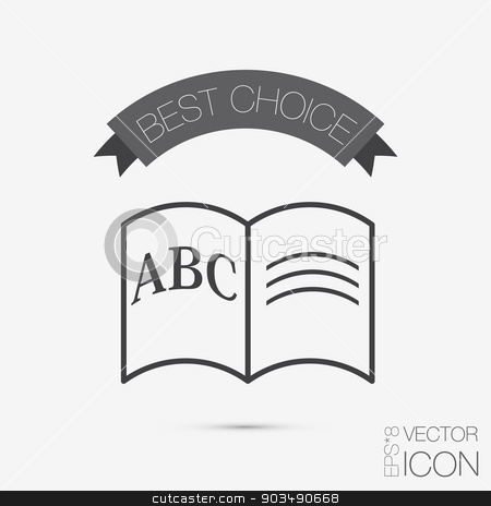 Letters of the alphabet. Icon learning. school symbol stock vector clipart, Letters of the alphabet. Icon learning. school symbol by LittleCuckoo