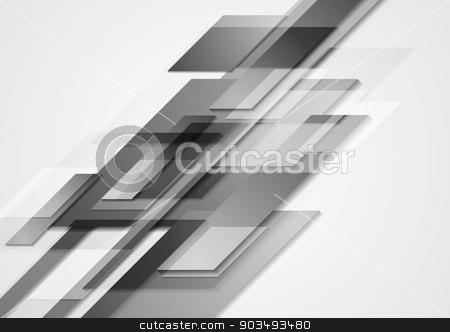 Grey hi-tech vector motion design stock vector clipart, Grey hi-tech motion design. Vector background by saicle