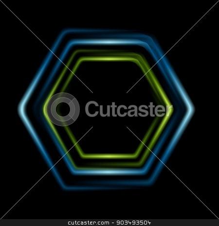 Bright abstract hexagon logo background stock vector clipart, Bright abstract hexagon logo background. Vector design by saicle