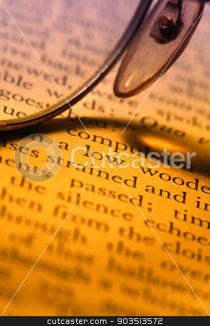 Old book stock photo, Close up of old book by Janaka Dharmasena