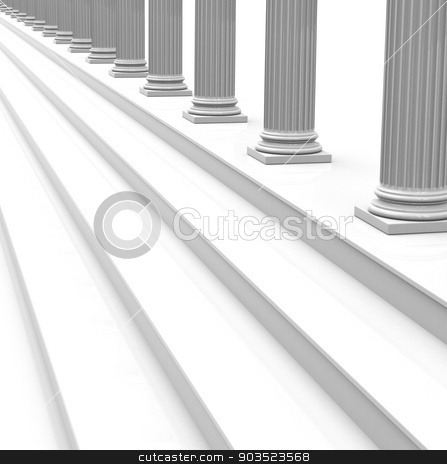 the white stairway stock photo, 3d generated picture of a white stairway by Stefan