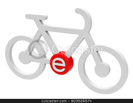 The e-bike stock photo, 3d generated picture of an e-bike on a white floor by Stefan