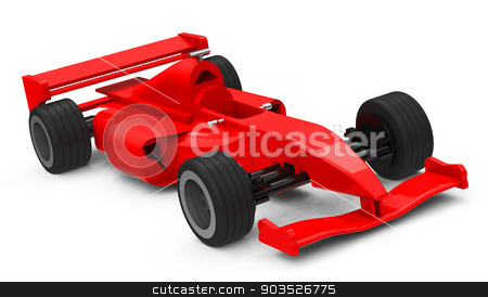the race car stock photo, 3d generated picture of a red race car by Stefan