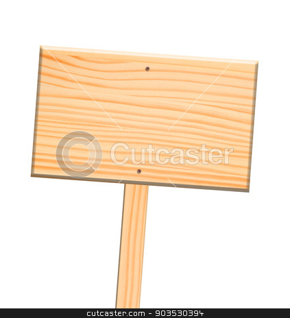 Wooden sign, isolated, clipping path. stock photo, Wooden sign, isolated, clipping path. by Pablo Caridad