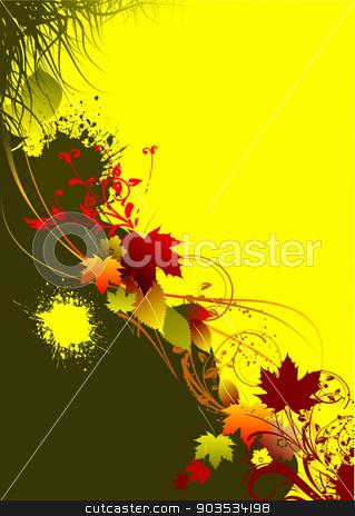 Autumnal leaf background. Vector illustration stock vector clipart, Autumnal leaf background. Vector illustration by Leonid Dorfman