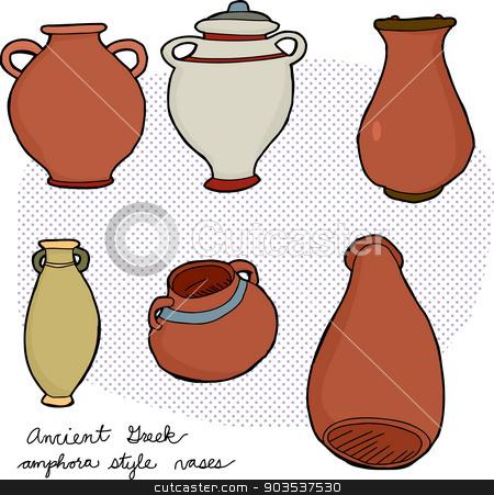 Ancient Greek Vases Stock Vector