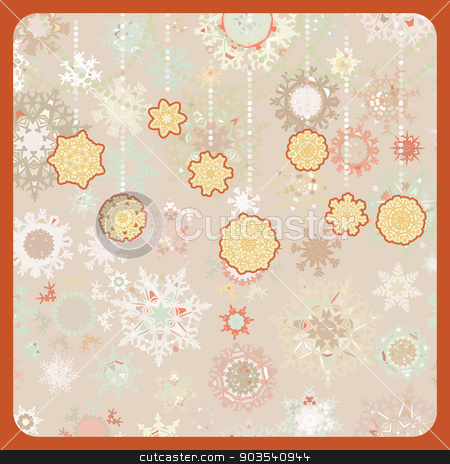 Colorful retro snowflake pattern. EPS 8 stock vector clipart, Colorful retro snowflake pattern. EPS 8 vector file included by Vladimir Petrov
