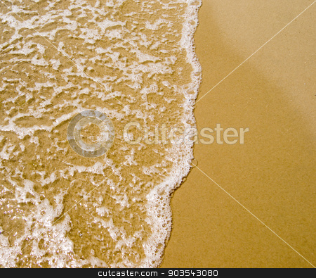Sand beach and wave stock photo, Sand beach and wave. For your commercial and editorial use. by Serhii