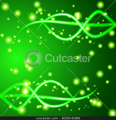 Shiny wave abstract background. Green color stock vector clipart, Shiny wave abstract background. Green color. Vector. EPS10 by Serhii