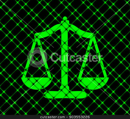 Scales balance icon. flat design with abstract background stock photo, Scales balance icon. flat design with abstract background. by Serhii