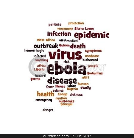 EBOLA stock photo, Ebola virus word cloud on white background. by Henrik Lehnerer
