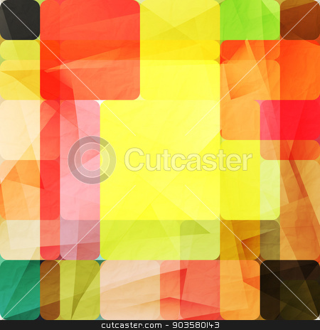 fashion fractures stock vector clipart, abstract background with colorful shapes over paper texture. vector graphic design by metrue
