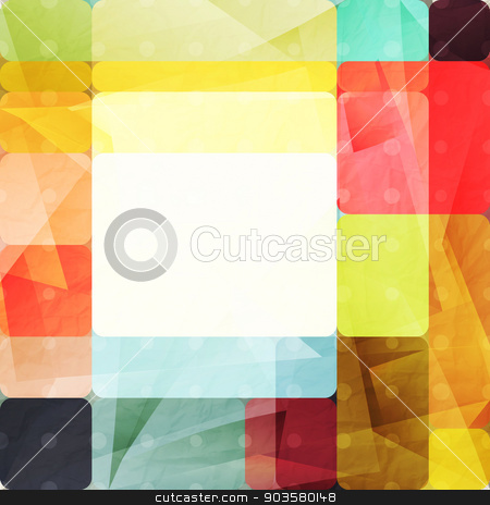 perforated fracture stock vector clipart, abstract background with colorful shapes over paper texture. vector graphic design by metrue