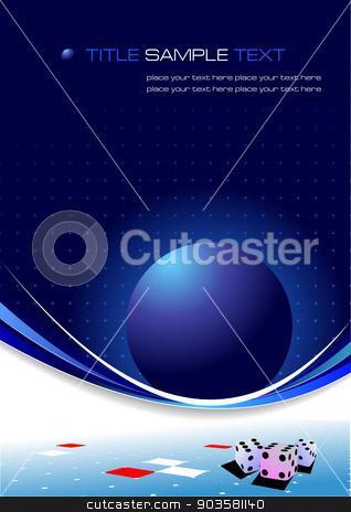 Blue business background. Vector illustration stock vector clipart, Blue business background. Vector illustration by Leonid Dorfman