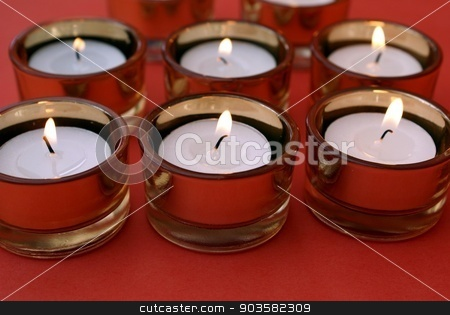 lit candles stock photo, decoration by Saphire Ovadia
