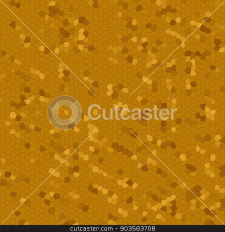 Dark Golden Mosaic stock photo, Dark Golden Mosaic with variation in color as background. by Henrik Lehnerer