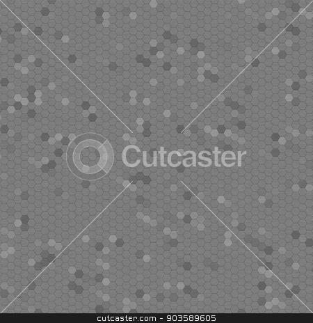 Brushed Metal Mosaic stock photo, Brushed metal mosaic with shades of gray as background. by Henrik Lehnerer