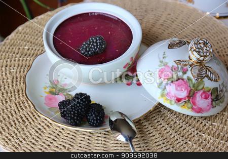 Blackberry Pudding stock photo, Blackberry Pudding new by konfikkonfik