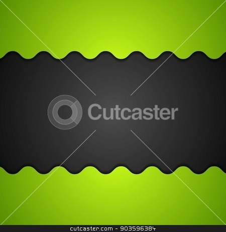 Green and black corporate background stock vector clipart, Green and black corporate background. Vector illustration by saicle