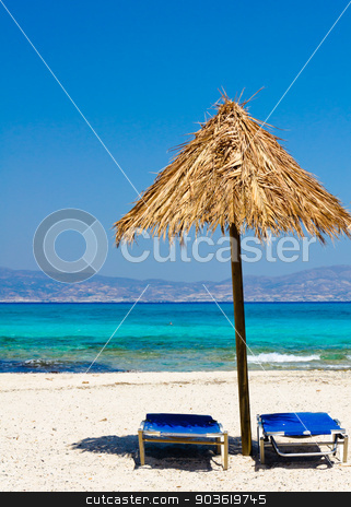 Amazing Beach of Chrissi Island, near Crete, Greece stock photo, Chrissi is an uninhabited Greek island approximately 15 kilometres south of Crete close to Ierapetra in the Libyan Sea.Chrissi is protected as an