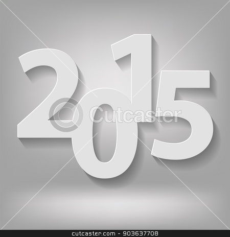 new 2015 year stock vector clipart,  illustration with  new 2015 year on grey background by valeo5