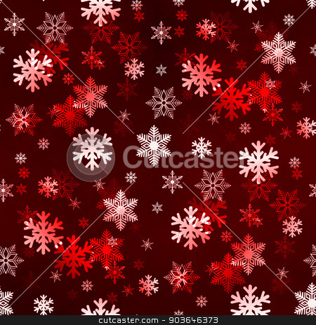 Dark Red Snowflakes stock photo, Dark red winter Christmas snowflakes with a seamless pattern as background image. by Henrik Lehnerer