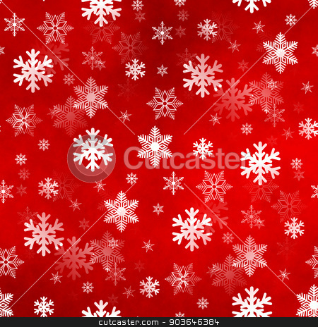 Light Red Snowflakes stock photo, Light red winter Christmas snowflakes with a seamless pattern as background image. by Henrik Lehnerer