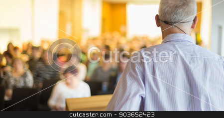 Speaker at Business Conference and Presentation. stock photo, Speaker at Business Conference and Presentation. Audience at the conference hall. Business and Entrepreneurship. by kasto