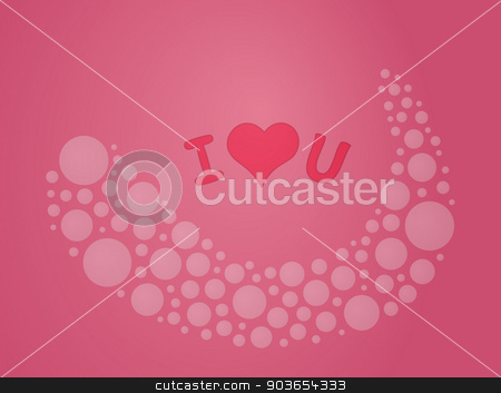 I love you stock vector clipart, I love you with bubble wave like in dream by muuraa