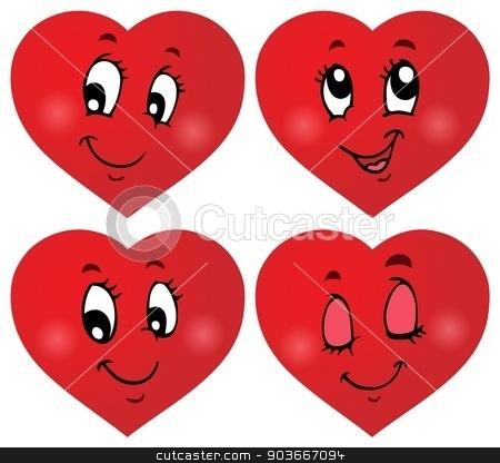 Valentine hearts thematic set 3 stock vector clipart, Valentine hearts thematic set 3 - eps10 vector illustration. by Klara Viskova