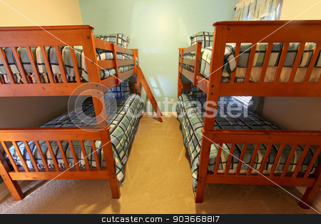 Bunk Bedroom stock photo, A Bunk Bedroom interior of a home by Lucy Clark