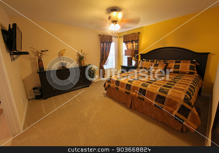 King Master Bedroom stock photo, A King Master Bedroom, interior of a home by Lucy Clark