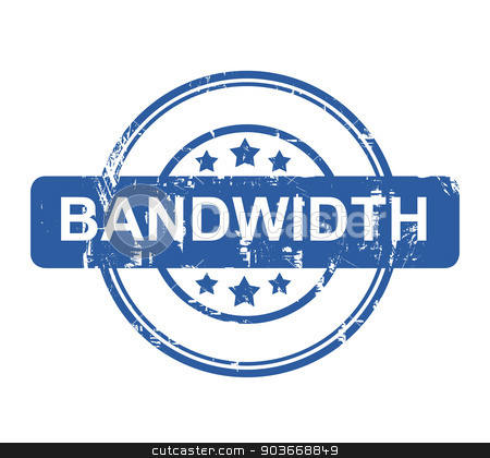 Bandwidth business concept stamp stock photo, Bandwidth business concept stamp with stars isolated on a white background. by Martin Crowdy