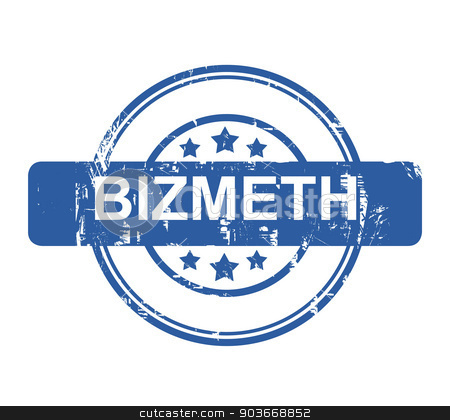 Bizmeth business concept stamp stock photo, Bizmeth business concept stamp with stars isolated on a white background. by Martin Crowdy
