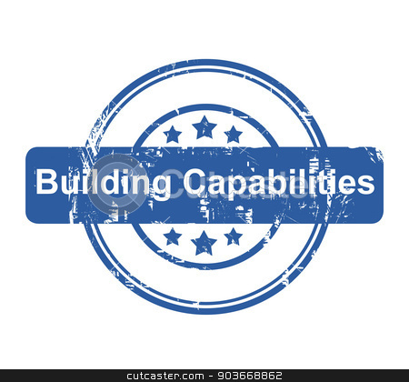 Building Capabilities business concept stamp stock photo, Building Capabilities business concept stamp with stars isolated on a white background. by Martin Crowdy