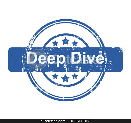 Deep Dive business concept stamp stock photo, Deep Dive business concept stamp with stars isolated on a white background. by Martin Crowdy