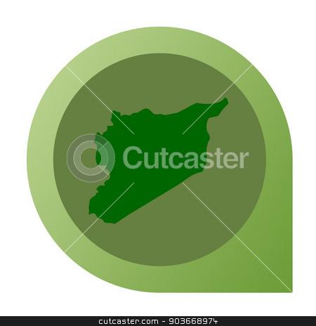 Isolated Syria map marker pin stock photo, Isolated Syria map marker pin flat web design style. by Martin Crowdy