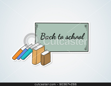 back to school stock vector clipart, vector, sketch, back to school and books by muuraa