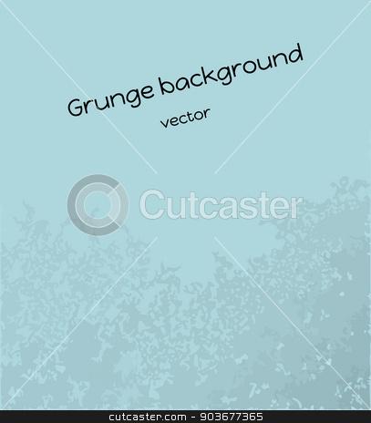 blue grunge background stock vector clipart, vector of the blue background with grunge effect by muuraa