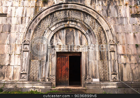 Arched doorway at the church of The Holy Sign of The Cross stock photo, Arched doorway at the church of The Holy Sign of The Cross at Haghpat in Armenia by takepicsforfun