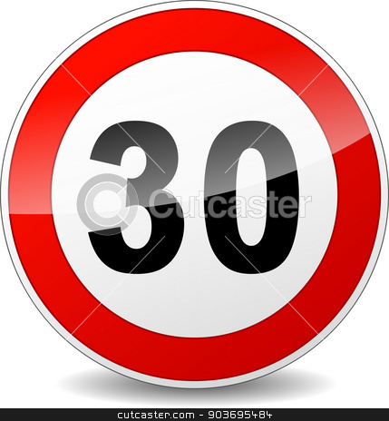 speed limit sign stock vector clipart, illustration of red and black speed limit sign by Nickylarson974