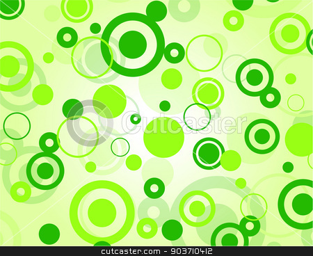 Vector green background stock vector clipart, Vector illustration of decorative green bubbles concept background by Nickylarson974