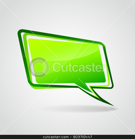 Vector green speech bubble stock vector clipart, Vector illustration of design green speech bubble blank by Nickylarson974