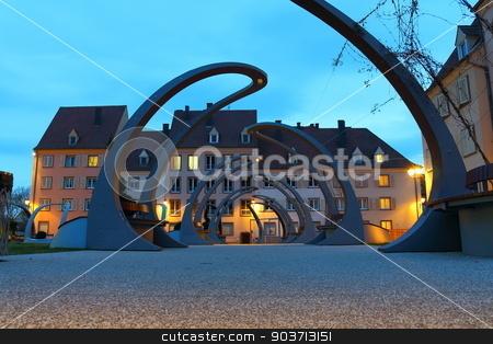 Alsace,night scene stock photo, Typical village of Alsace,night scene by Robert Boss