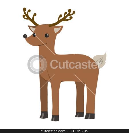 Vector cartoon flat funny deer mascot. stock vector clipart, Vector animal for games presentations, ui tablets, smart phones. by lemon5ky