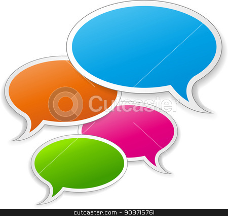Vector speech bubbles stock vector clipart, Vector illustration of speech bubbles on white background by Nickylarson974