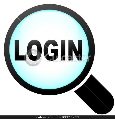 Vector login icon stock vector